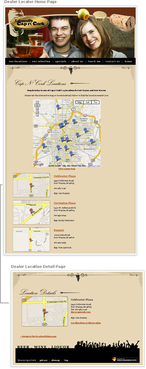 Cirrus eBusiness Suite Dealer Locator Module Example