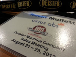 Deister Machine Sales Meeting Badge
