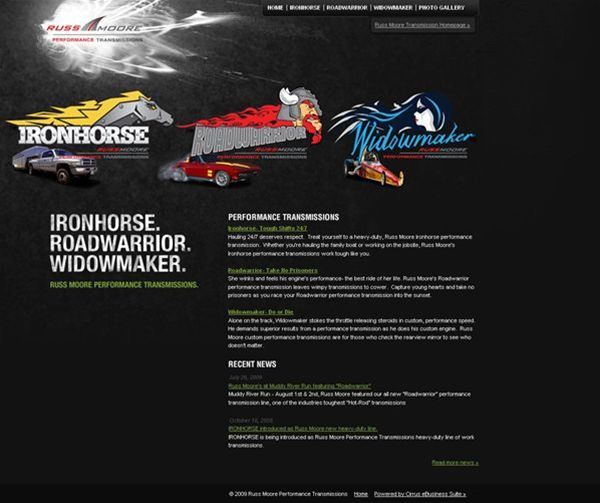 Compelling Dynamic Site Showcases Expertise And Highlights Private Label Products Russ Moore Transmission